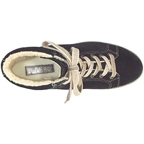 Legero 300619 TANARO Damen Hohe Sneakers Schwarz