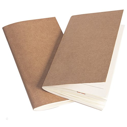 Filler Paper Journal Refills Lined and Blank Paper Set of 2 Inserts for Travelers Notebook - 7.4 x 4 inch - 152 Pages (Notebook Refill)