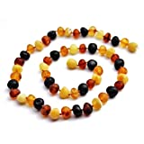 Momma Goose Amber Healing Necklace, Baroque Unpolished Multi, 1-Pack