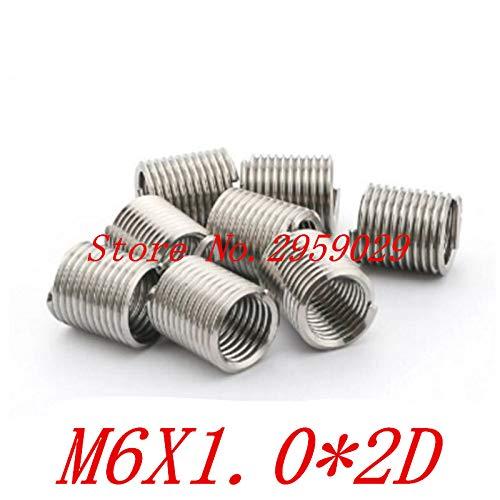 Ochoos 100pcs M61.02D m6 Wire Thread Insert Stainless Steel m6 Screw Bushing,Wire Screw Sleeve,Thread Repair