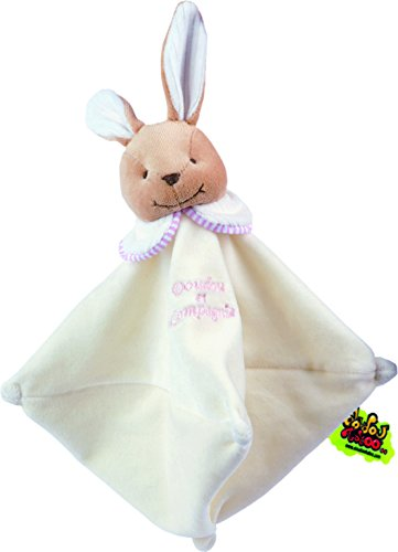 Doudou et Compagnie - Manta para bebé con peluche, diseño de conejo