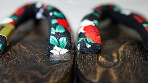 [Japon Made] Geta Paulownia bois de santal traditionnelle Chaussures Camellia Conception Taille M