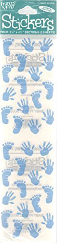 - Baby Prints Blue Scrapbook Stickers (ST566)