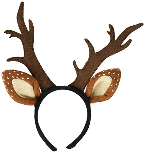 Leg Avenue Women's Deer Fawn Antler Headband, Brown, One Size]()