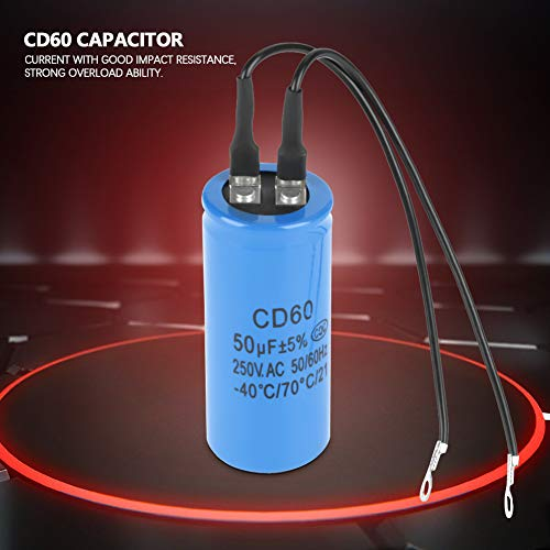 watersouprty 250-450V AC 200uF Appliance Motor Start Run Capacitor CD60