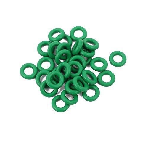 DealMux 30pcs 6 milímetros x 1,5 mm de borracha Junta O Anel anel de vedação resistente ao calor - Six Anel
