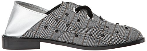 London Hankie Women's Plaid Shellys Grey Oxford Flat SRwnxqdg