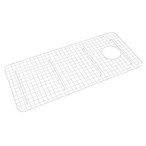(Rohl WSG3618WH 32-5/8-Inch by 14-5/8-Inch Wire Sink Grid for RC3618 Kitchen Sinks in White Abcite Vinyl)