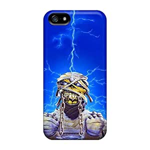 MarieFrancePitre Iphone 5/5s Excellent Hard Cell-phone Cases Provide Private Custom HD Iron Maiden Band Image [MDx17071looG]
