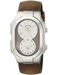Philip Stein Mens 200-SBE-CABR Swiss Signature Analog Display Swiss Quartz Brown Watch