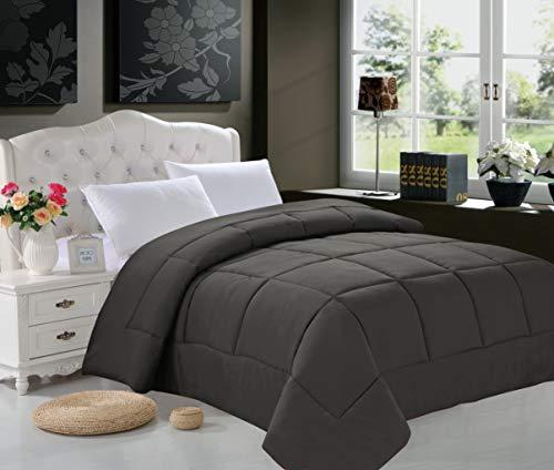 Elegant Comfort Luxury Comforter on Amazon Ultra Plush Down Alternative Double-Filled Comforter%100 Hypoallergenic, Twin/Twin XL, Gray (Elegant Comfort Goose)