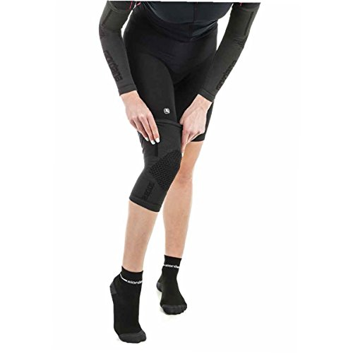 Giordana Heavy Weight Knitted Cycling Knee Warmers - GI-W3-KNEW-BCHV (Black - L/XL)