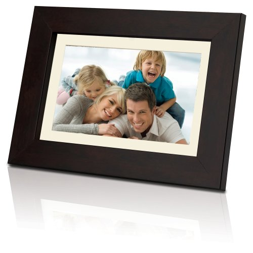 Coby 7-Inch Widescreen Digital Photo Frame DP732 (Wooden Design) (Coby Picture Frame Electronic)