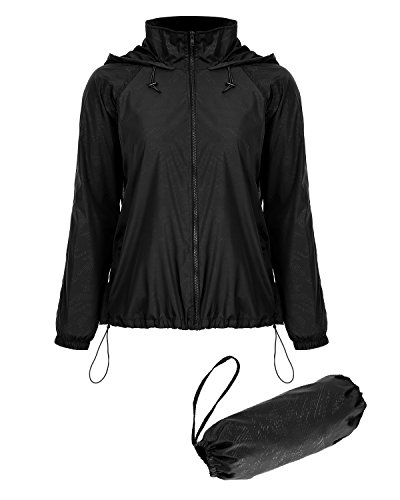 Mixfeer Lightweight Raincoat Rainwear Jacket Outdoor Hoodie Cycling Running Windbreaker Jacket