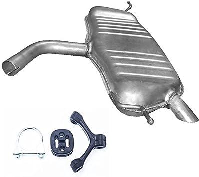 Endschalldämpfer Auspuff Golf V Plus 1 6i Fsi Bis Bj 12 2008 75 85kw Montageware Auto