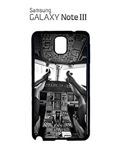 Sexy Women Pilot Cockpit Mobile Cell Phone Case Samsung Note 3 White