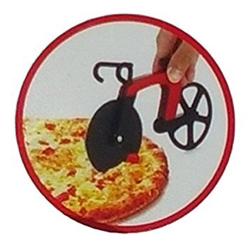Cucina Vita Bicycle Pizza Cutter Red Lovely Novelty