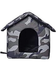 Domek dla kotów na zewnątrz, na zimę, do użytku na zewnątrz, w domach dla kotów, ze zdejmowaną matą, do użytku na zewnątrz, wodoszczelny, odporny na warunki atmosferyczne, składany domek dla małych kotów, domków dla małych kotów (L)