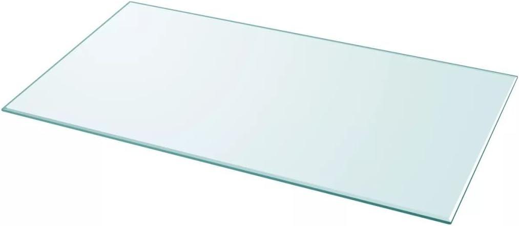 Vislone Cristal Cuadrado Tablero de Mesa Templado de Cristal para Mantener Superficie de Mesas de Comedor Mesas de Café Mesas de Jardín Transparente 1200x650mm