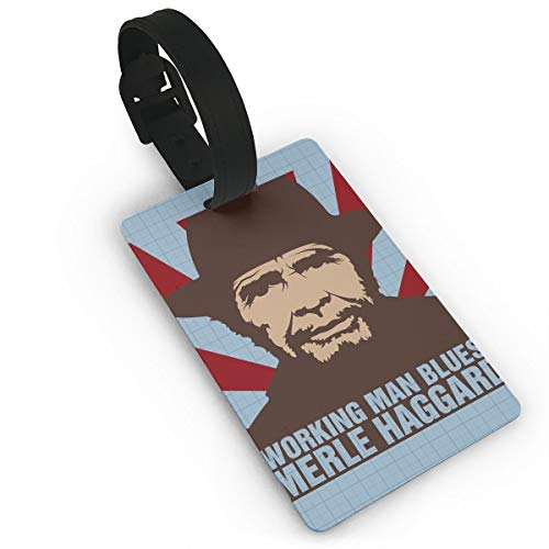 d001a2ea1 AlstonE Merle Haggard Luggage Tags Suitcase Tags Bag Tag Travel ID Labels  Tag