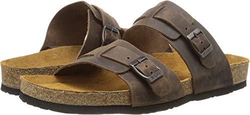 NAOT Men's Santa Cruz Flat Sandal, Brown, 43 EU/10 M -