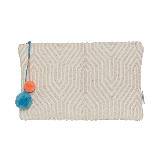 Pompom With Ashiana Miami Waterproof Clutch Beige zq7A41