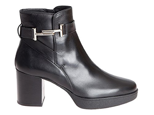 Ankle Number Model Block Leather Tod's In Boots Black Xxw40a0u690gocb999 Heels 0Exqx8