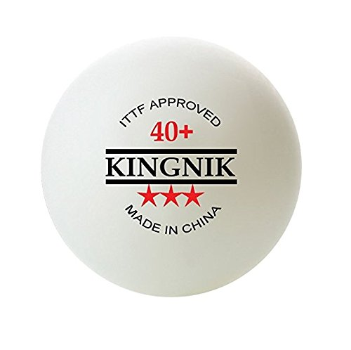 KINGNIK 3 STAR ITTF 40+ SEAMLESS TABLE TENNIS BALLS, 50 pieces