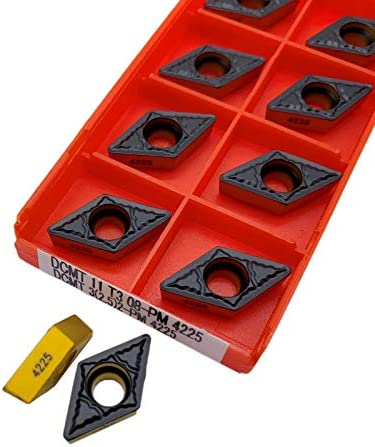 WITHOUT BRAND 10pcs DCMT 11T304 4230 4240 11T308-PM 4225 Interne Drehwerkzeuge Hartmetalleinsatz Qualitäts-Drehmaschine Schneidwerkzeug (Farbe : DCMT 11T308 PM 4225)