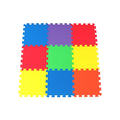 Non Toxic 9 Piece Children Play Amp Exercise Mat Foam