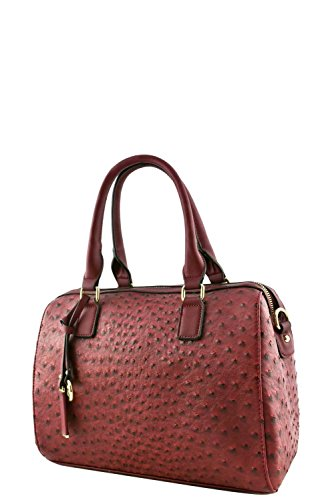 womens-designer-faux-leather-fashionable-ostrich-top-handle-bag-va2014-wine