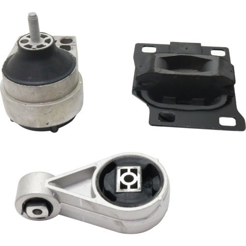 Evan-Fischer EVA210010211760 Motor and Transmission Mount Kit for Ford Focus 00-04 4 Cyl 2.0L (4 Cyl Auto Transmission)