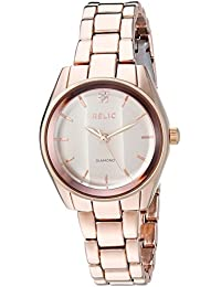 Women's 'Zoey' Quartz Stainless Steel and Alloy Casual Watch, Color:Rose Gold-Toned (Model: ZR34419)