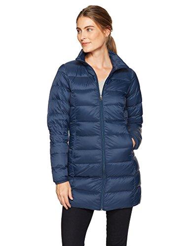 Amazon Essentials Women's Lightweight Water-Resistant Packable Down Coat, Navy, Small (Jackets Lightweight Down)