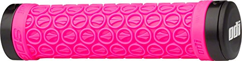 SDG Components Hansolo Lock-On Grips Pink/Black Ano Lock Rings, 130mm
