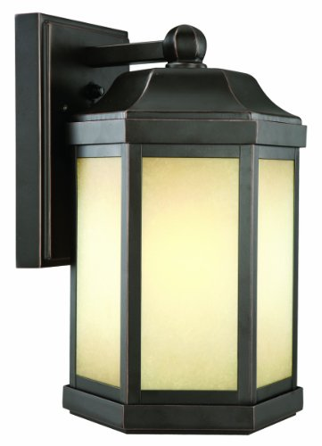 Design House 514992 Bennett Outdoor Fluorescent Downlight With Photocell 13 Inch By 7 75 Inch Oil Rubbed Bronze