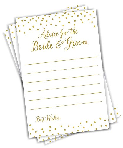 Advice for The Bride and Groom - Gold Confetti (50-Cards) -