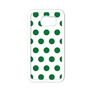 Durable Platic Case Cover for Samsung Galaxy S6-Polka Dot Pattern Printed Cell Phones Shell