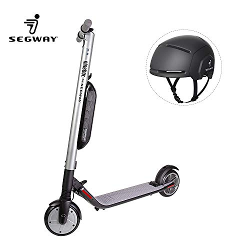 Segway Ninebot - ES4 KickScooter with Black Adult Helmet, High-Performance 800W Foldable Electric Scooter - 28 Mile Range, 18.6 mph...