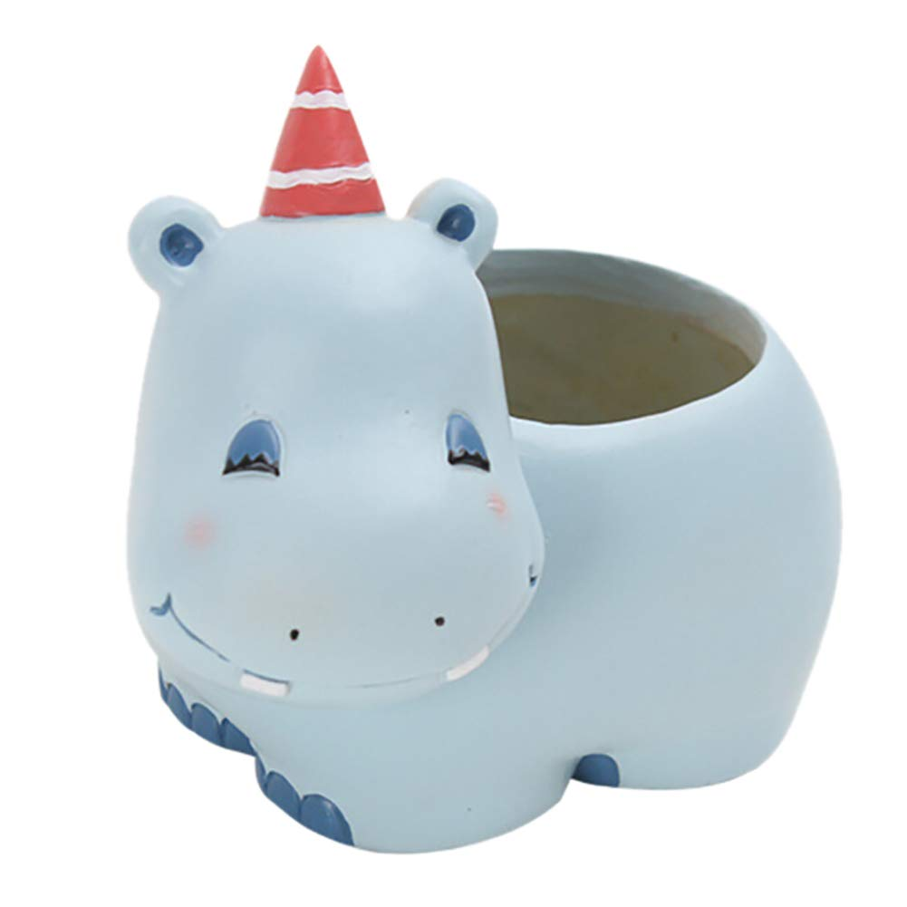 Amazon Messagee Cute Hippo Succulent Pots With Drainage Resin
