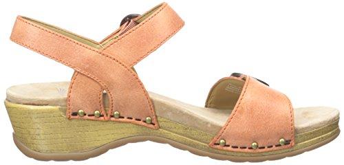 Dansko Womens Mabel Platform Sandalo In Pelle Lavata Arancione