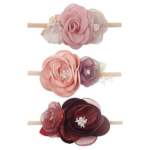 Baby Floral Headband Nylon Turban Elastic Head Wraps For Newborn Infant Toddler Girls