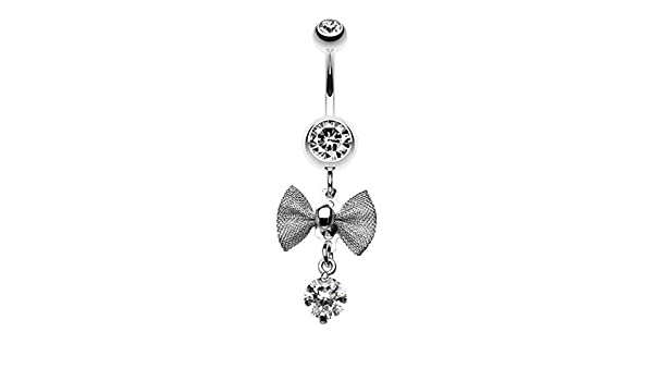 Twinkling Bow WildKlass Belly Button Ring