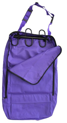 Deluxe Bridle Halter Tote Bag with Removable Tack Rack Purple by AJ Tack (Image #1)