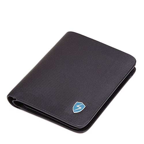 Rfid Blocking Genuine Leather Wallet Men Credit Card Case Excellent Trip Portfolios Protector Money-a 12x10cm (5x4inch) To