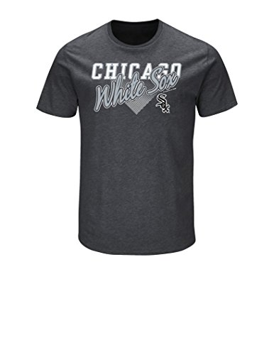 MLB Chicago White Sox Men's Master This Tee, Charcoal Heather, XX-Large - Chicago White Sox Heather