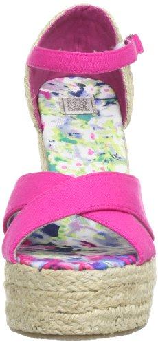 Colors of California HC.JWEDGE012 - Plataformas de lona para mujer Rosa (Pink (Fuxia FUX))
