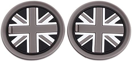 73mm Black Union Jack UK Flag Style Soft Silicone Cup Holder Coasterspour For MINI Cooper R55 R56 R57 R58 R59 Front Cup Holders
