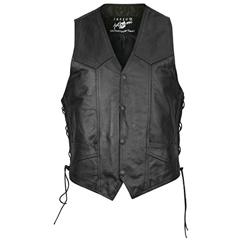 Brown Eagle Embossed Leather Vest - Embossed Vest Leather
