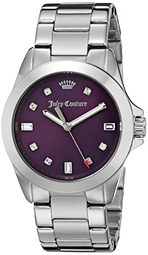 Juicy Couture Women's 1901282 Malibu Analog Display Quartz Silver Watch